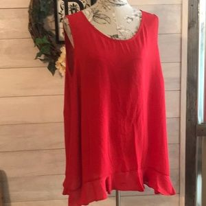 Signature Collection Red Sleeveless Top 1X